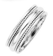 his & hers FINEST platinum wedding band milgrain ring