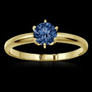1.00 carat blue diamond solitaire engagement ring new