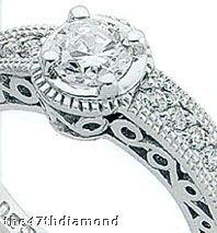 Diamonds 0.76 carat WEDDING BAND SET DIAMOND RING REAL