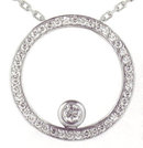 1.35 carats Bezel Set Diamond Pendant with round cut di