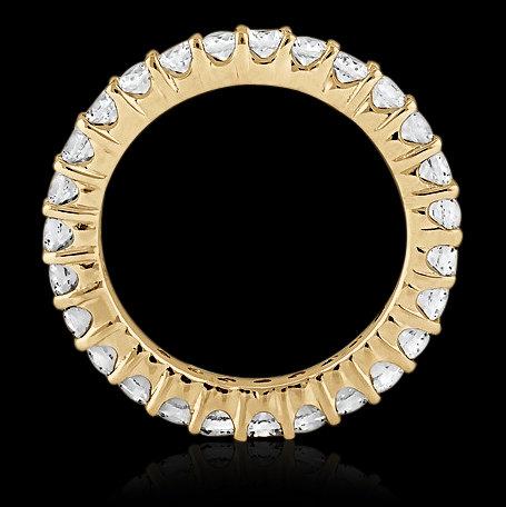 E VVS1 Round diamond eternity wedding band women's band