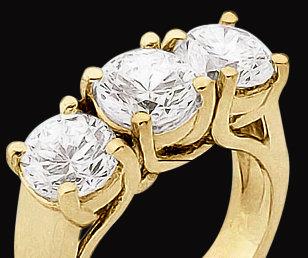 1.5 carat ENGAGEMENT RING 3 STONE DIAMOND jewelry three