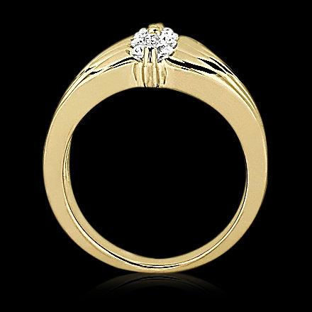 0.75 carats DIAMOND RING 4 stone engagement ring gold
