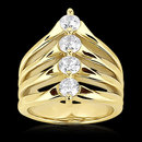0.75 carats DIAMOND RING 4 stone engagement ring gold