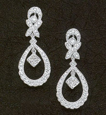 0.96 carats DIAMOND EARRINGS mini small HIGH QUALITY