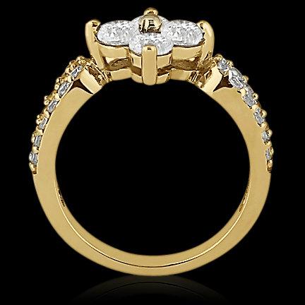 1.08 Ct. Diamond wedding ring F VVS1 gold ring new