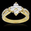 1.08 Ct. Diamond wedding ring F VVS1 gold ring new