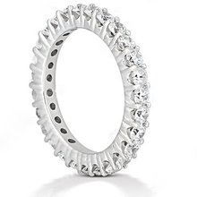 E VVS1 Round diamond eternity wedding band women's band