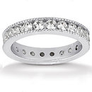 1.47 Ct. White gold & E VVS1 diamonds wedding band