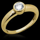 0.75 Ct. G SI1 diamonds solitaire gold engagement ring