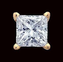 Single diamond stud earring men jewelry 1/2 ct. earring