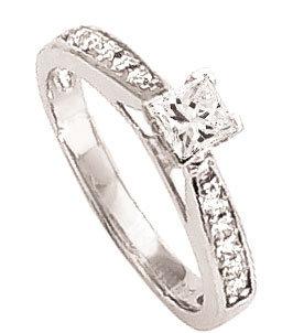 1.5 carat genuine DIAMOND RING princess cut jewelry