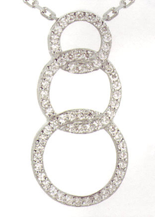 1.62 carats Journey CIRCLE OF LIFE diamond pendant with