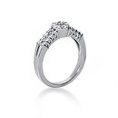 1.34 carats white gold DIAMOND RING E VVS1 wedding ring