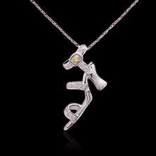 1.50 ct. yellow canary diamonds pendant lady shoe style