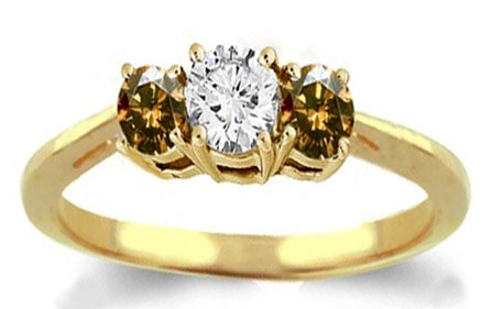 1.75 ct. diamond engagement ring champagne diamond ring