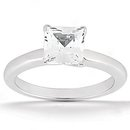1.01 Ct PRINCESS CUT diamond wedding ring G SI1 diamond