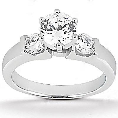 Diamonds 1.25 ct. wedding set three stone diamond ring