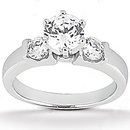 Diamonds 1.25 ct. wedding set three stone diamond ring