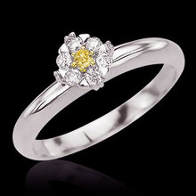 1.51 ct. yellow canary diamonds anniversary ring gold