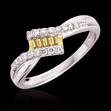 1 ct. certified yellow diamonds anniversary ring gold