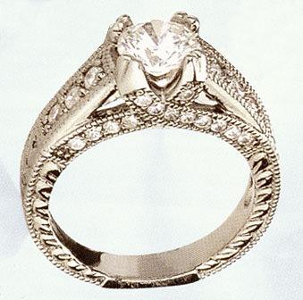 1.38 CARATS HIGH BRILLIANCE engagement ring 35 DIAMONDS