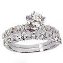 1.25 Ct. diamonds wedding band set engagement ring new