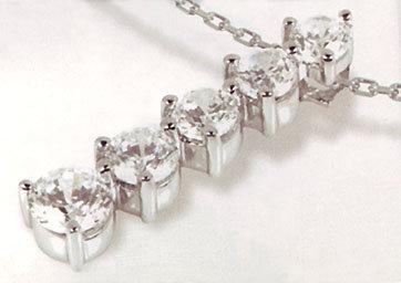 2.5 carats large big journey five 5 DIAMOND pendant