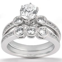 Diamond engagement ring & band set 1.25 Ct. diamonds
