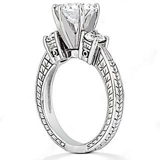 1.05 Ct. DIAMOND RING three stone GOLD wedding ring