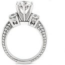 1.05 Ct. DIAMOND RING three stone GOLD wedding ring