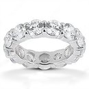 F VS1 Diamonds eternity wedding band white gold 2.1 ct.