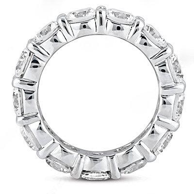 F VS1 Diamonds eternity wedding band white gold 2.1 ct.