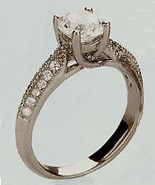 1.18 carats REAL DIAMOND engagement ring with diamonds
