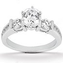 F VVS1 diamonds anniversary set gold ring 1.45 carat