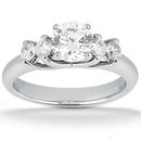 1.25 Ct. diamonds engagement band set 5 stone ring gold