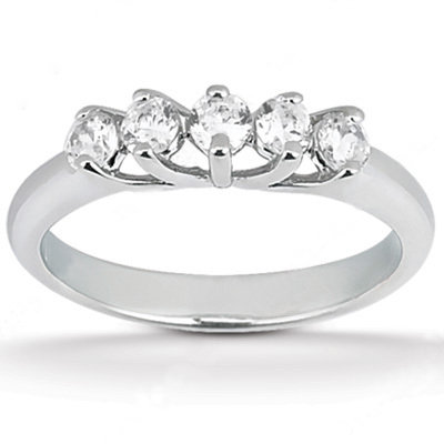 1.25 Ct. diamonds engagement band set 5 stone ring gold