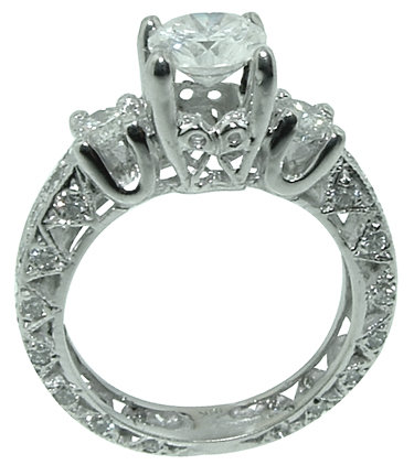 2 carat diamond band to match the ring