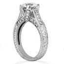 F VS1 Round diamonds ring engagement 1.43 carats gold
