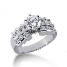 Diamonds ring 1.25 ct. engagement ring with accents new