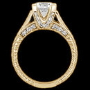 1.43 ct. Round diamonds ring engagement yellow gold new