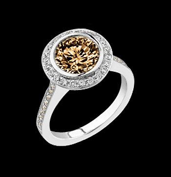 1.75 carat champagne round diamonds anniversary ring