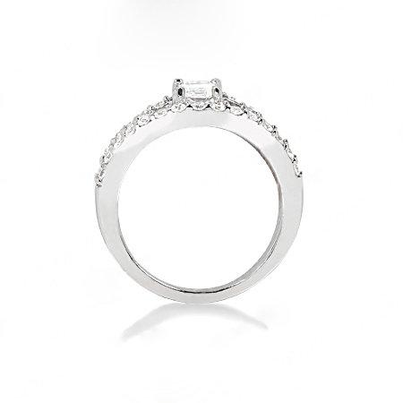 F VVS1 DIAMONDS RING 1.40 cts. jewelry white gold new