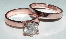 1 carat diamond engagement ring SOLITAIRE wedding band