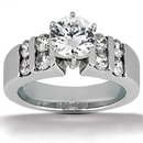 G SI1 Diamonds 1.81 ct. solitaire white gold ring jewel