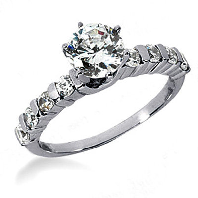 Center solitaire G SI1 diamonds 1.81 carats gold ring