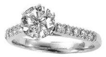 1.44 carat diamond solitaire ring with accents JEWELRY
