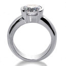 DIAMOND F VS1 SOLITAIRE RING 1.01 CT. white gold