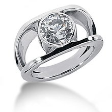 1 Ct. Diamond ring solitaire engagement F VS1 jewelry