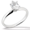 1 carat F VS1 oval solitaire diamond engagement ring